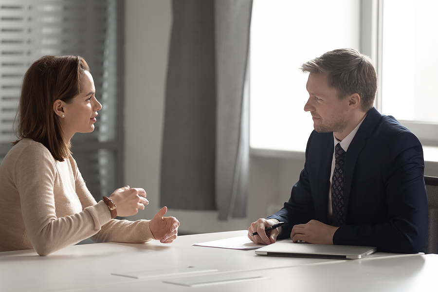 Sydney family law specialist meeting with a client
