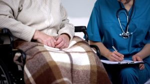 Gold Coast home doctor visiting a patient